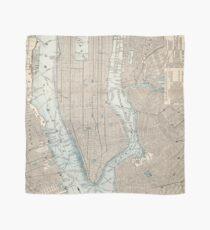 Pañuelo Mapa vintage de la ciudad de Nueva York (1893)