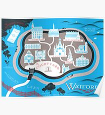 Watford School of Magicks Map- Carry On Poster