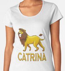 Catrina Lion Drawstring Bags Women's Premium T-Shirt