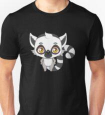 Netter großer gemusterter Lemur Slim Fit T-Shirt