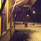 A Quiet And Cold Snow In The Glow of Kingston RR Station *featured by Jack McCabe