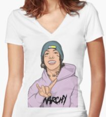 When Lil Xan is life Women's Fitted V-Neck T-Shirt