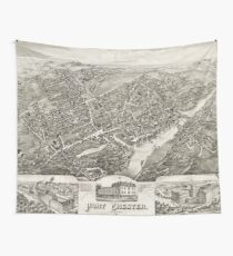 Vintage Map of Port Chester NY (1882) Wall Tapestry