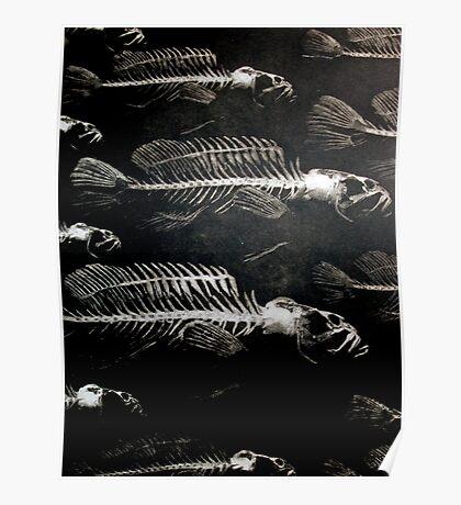 SKELETON FISH Poster