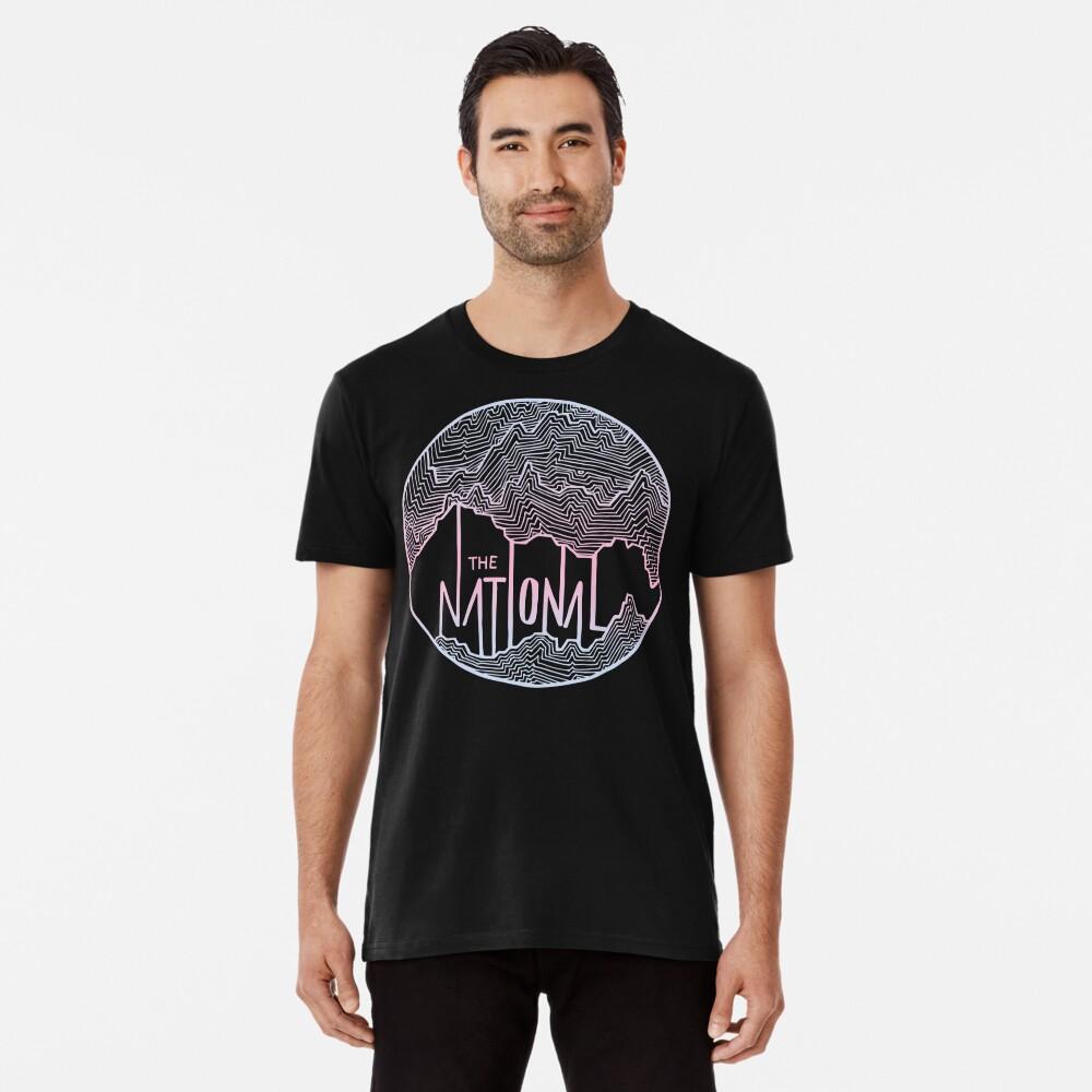 Die nationale Linie Kunst Premium T-Shirt