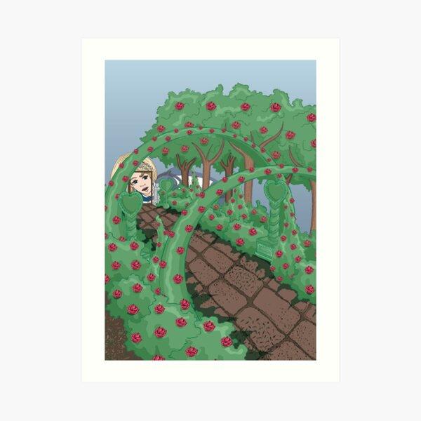Alice Looking in the Garden Art Print