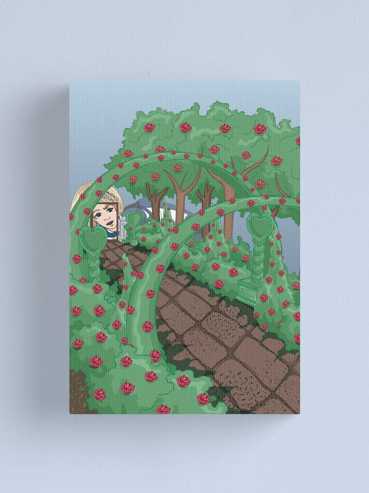 Alternate view of Alice Looking in the Garden Canvas Print
