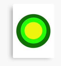 Green circles Canvas Print