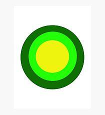 Green circles Photographic Print