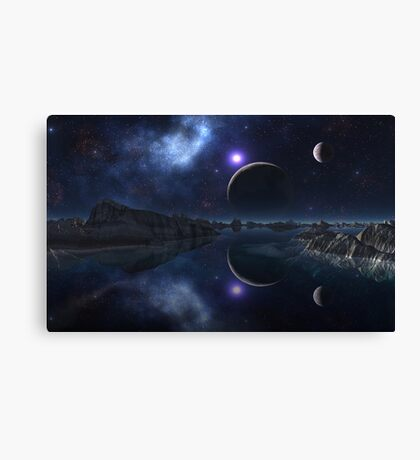 The Sun and the Moon and the Stars Canvas Print
