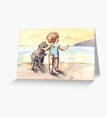 Sally and Spike Greeting Card