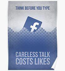 Facebook Propaganda Poster Poster
