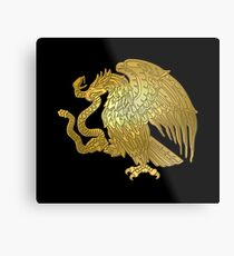 Gold Mexican Eagle  Metal Print