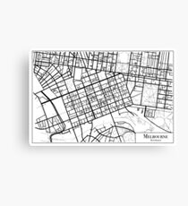 Melbourne Street Map Canvas Print