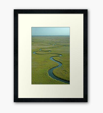 Okavango Delta aerial view 2 Framed Print