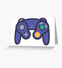 Gamecube Controller Greeting Card