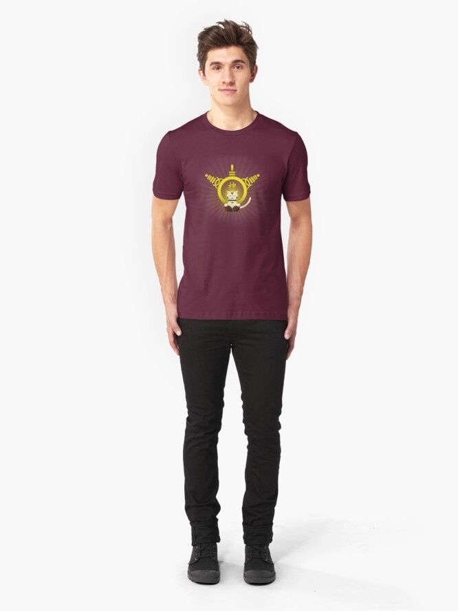 Alternate view of Who do you serve? Slim Fit T-Shirt