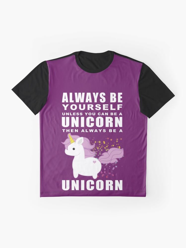Vista alternativa de Camiseta gráfica Siempre - Unicornio