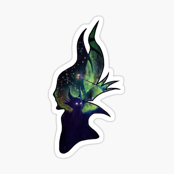 Maleficent Silhouette Sticker