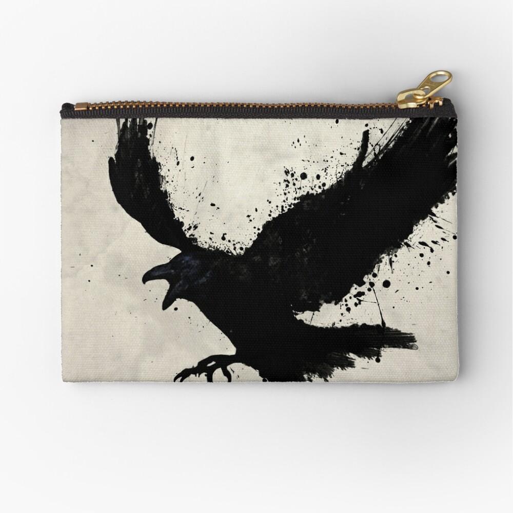 Raven Zipper Pouch