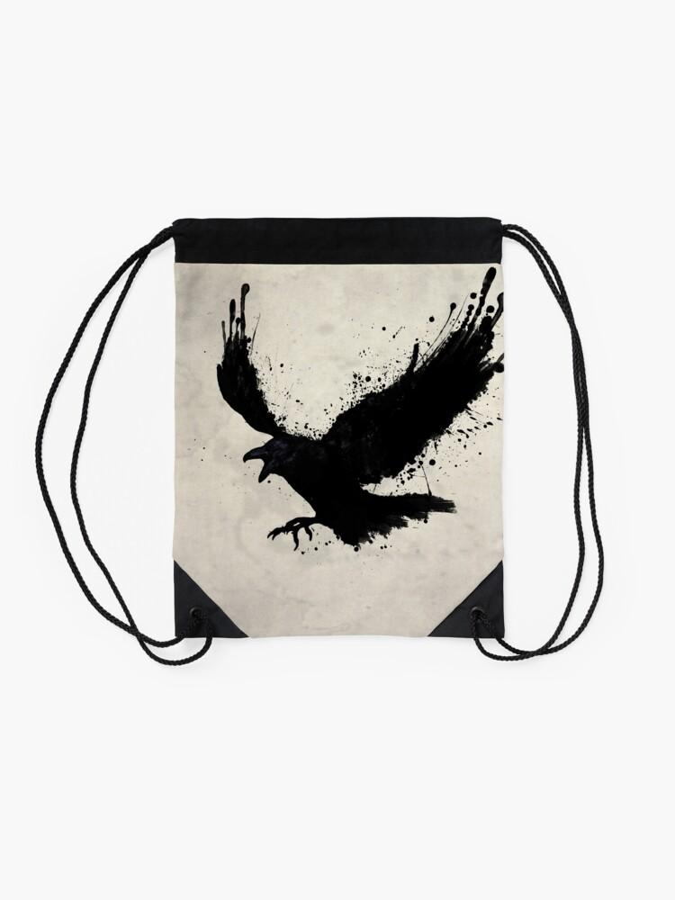 Alternate view of Raven Drawstring Bag
