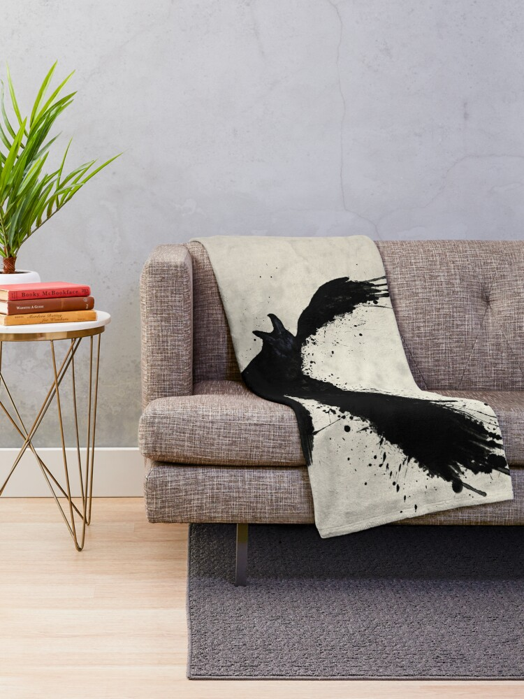 Alternate view of Raven Throw Blanket