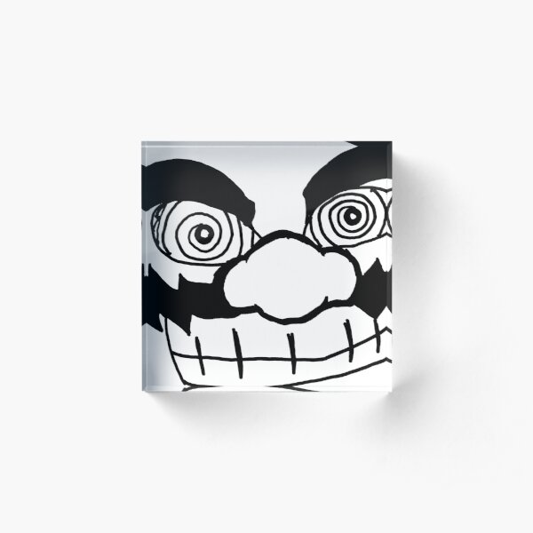 Crazy Eyed W Acrylic Block
