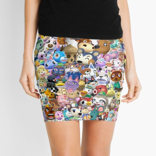 Animal Crossing (Duvet, Phoen case, sticker etc) Mini Skirt