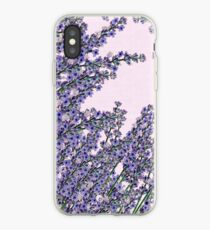Chic pink purple cute lavender flowers pattern iPhone Case