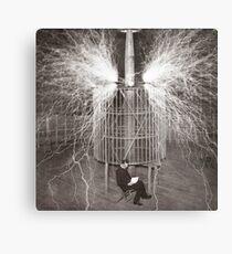 Nikola Tesla Metallbild