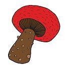 Red Mushroom by C. Tarantino