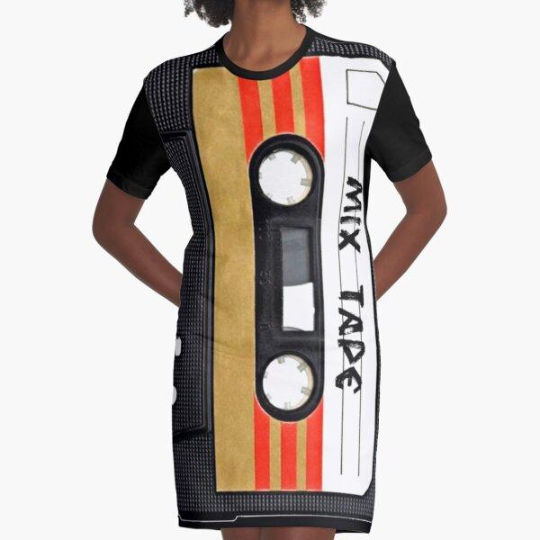 Cassette Tape Graphic T-Shirt Dress