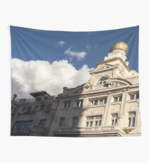 Half and Half - Sophisticated Madrid Facades in Sun and Shade Tapestry