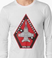 F/A18 VFA-22 Fighting Redcocks Long Sleeve T-Shirt