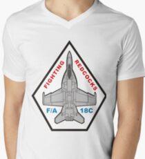 F/A18 VFA-22 Fighting Redcocks Men's V-Neck T-Shirt