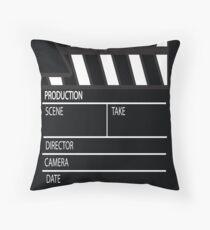 Clapper Board Throw Pillow
