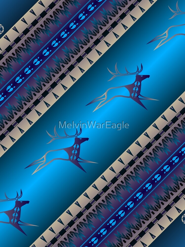 Elk Spirit (Blue) by MelvinWarEagle