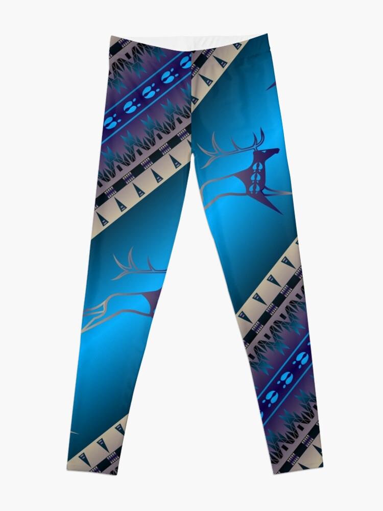 Alternate view of Elk Spirit (Blue) Leggings