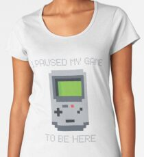 90s Retro Gamer Video Game Women's Premium T-Shirt