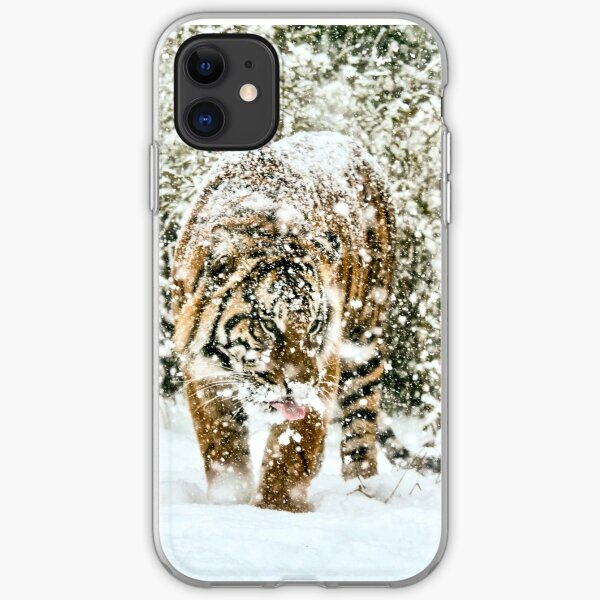 Tiger in the snow iPhone Soft Case