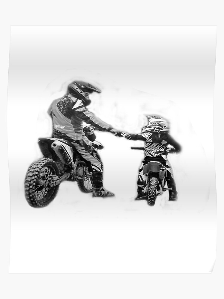 cad69e11c Dad and son riding partners for life t shirts - motocross