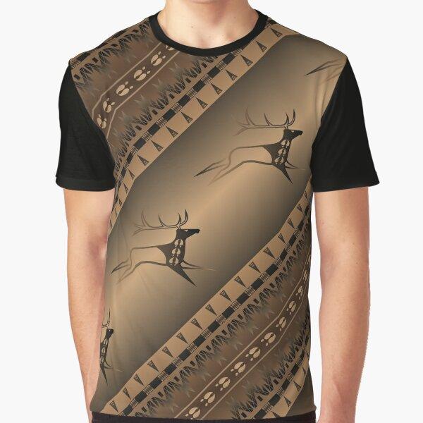 Elk Spirit (Brown) Graphic T-Shirt