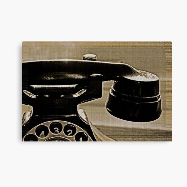 Vieux téléphone dans la fenêtre Impression sur toile