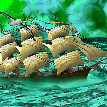 Eighty Years' Progress of British North America - A Clipper Ship 1863 by ZipaC