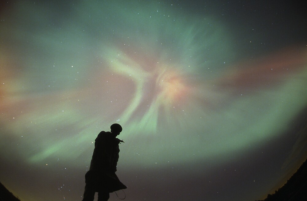 Aurora Borealis Angel by Russell Cockman