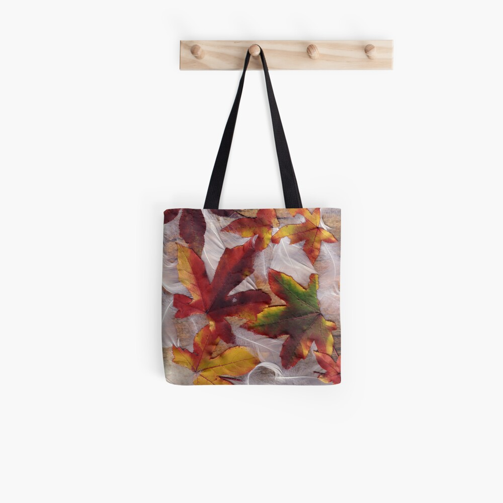 Feathers and Leaves Tote Bag