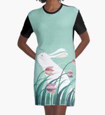 Kaninchen, ruhend T-Shirt Kleid