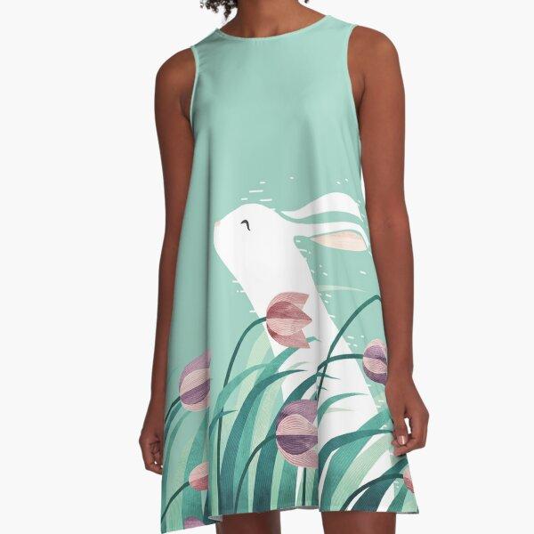 Rabbit, Resting A-Line Dress