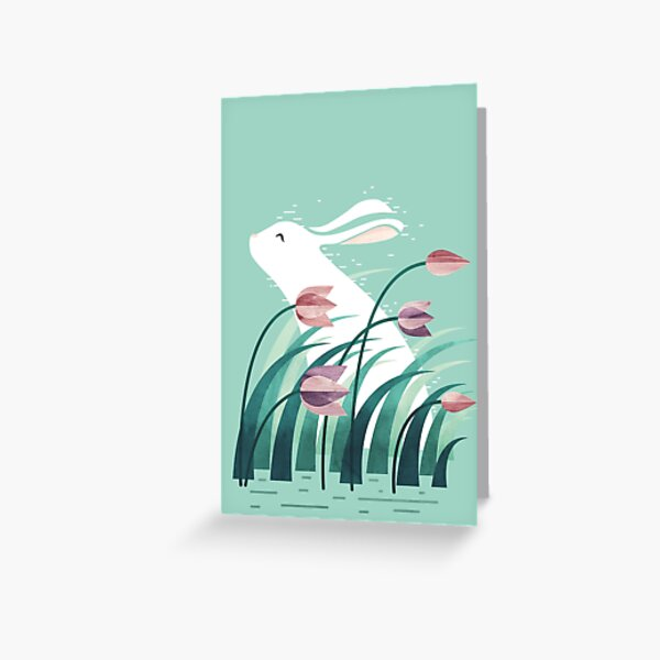Rabbit, Resting Greeting Card