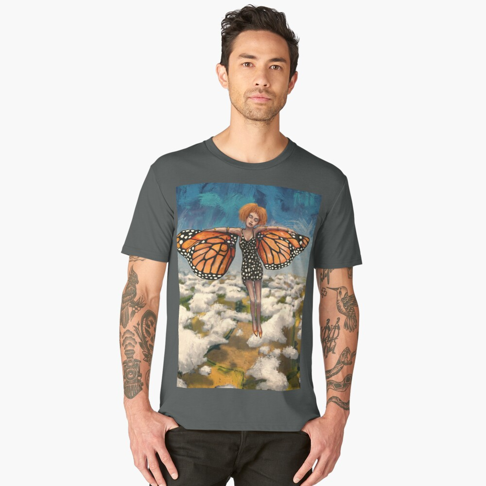 Your Time To Soar (Butterfly Girl) Men's Premium T-Shirt Front